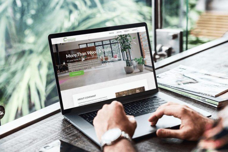 Covenant Construction Website Design Mockup