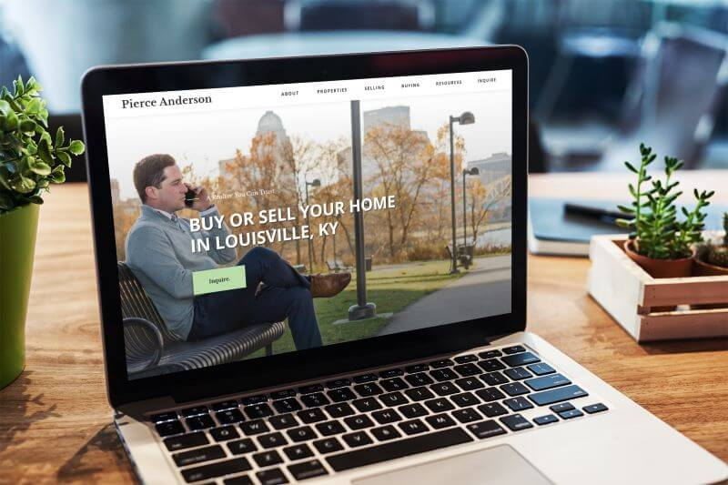 Pierce Anderson Realtor Website Design Mockup
