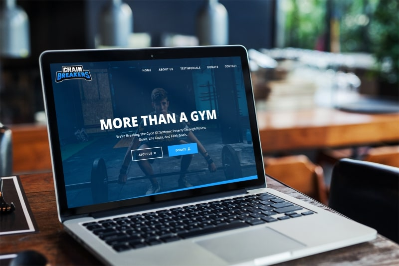 Chain Breakers Gym Website Design