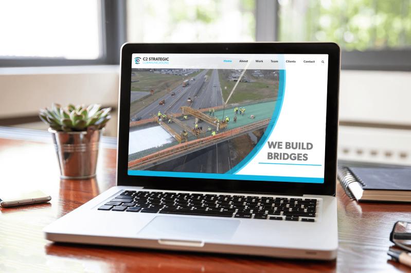 C2 Strategic Website Design Mockup