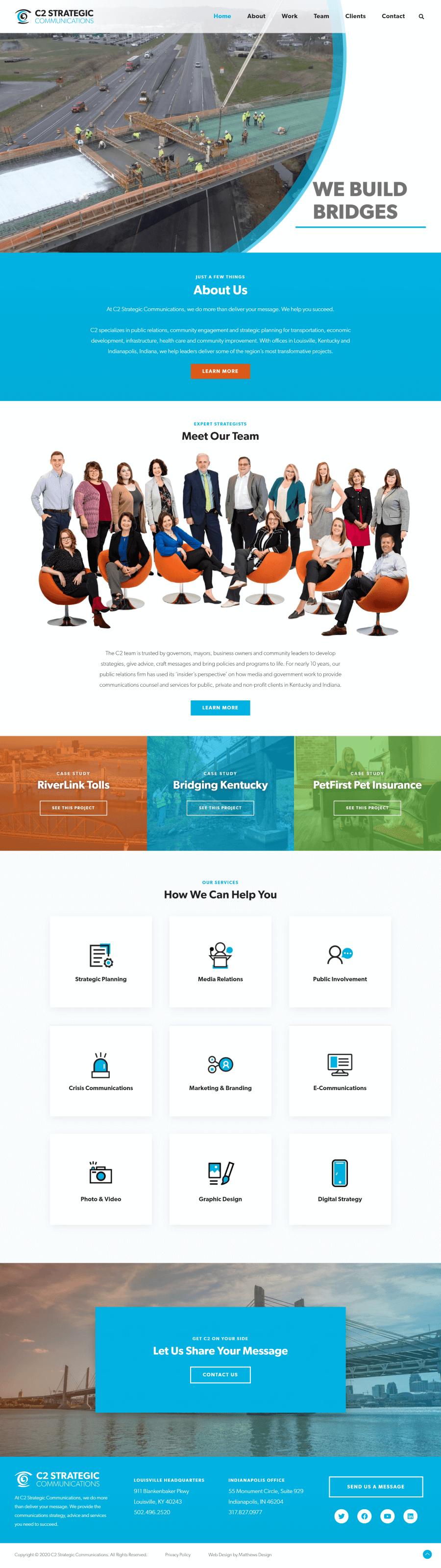 C2 Strategic Website Design by Matthews Design