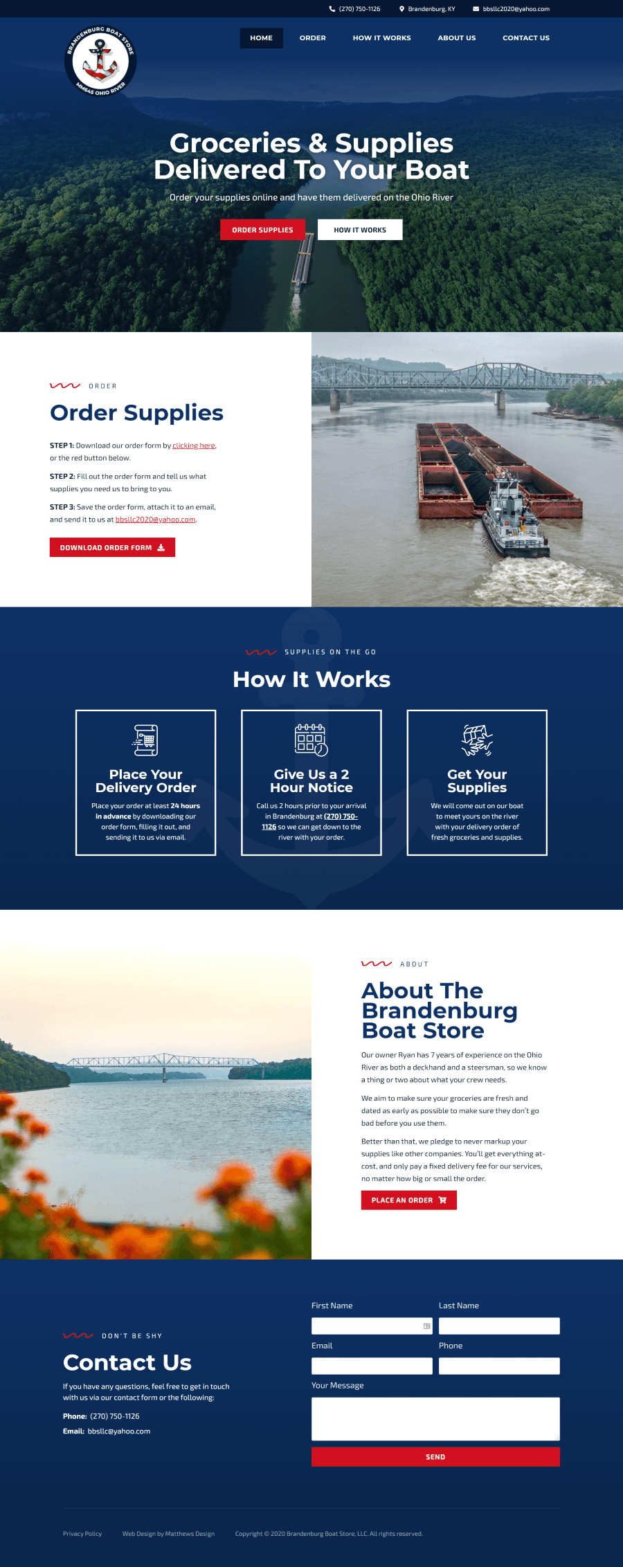 Brandenburg Boat Store Website by Matthews Design