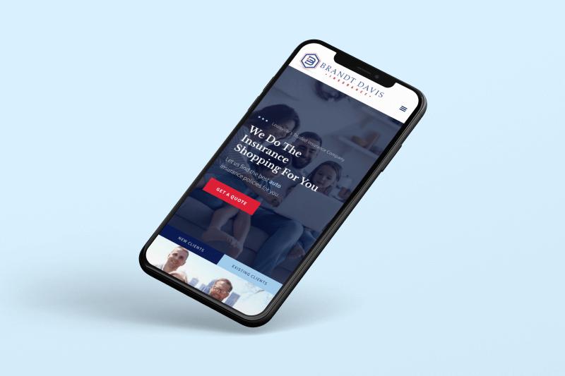 Brandt Davis Insurance Website Mockup
